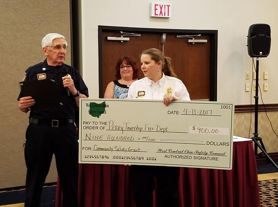 Perry Township Fire Department received the West Central Ohio Safety